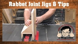 3 Jigs (and a BUNCH of tips) for better table saw rabbet joints