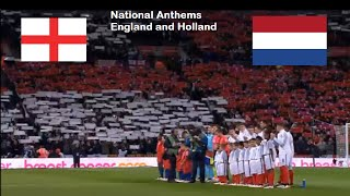 England vs Holland - National Anthems WITH LYRICS