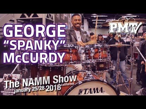 "George ""Spanky"" McCurdy Jam at NAMM 2018 with Tama"