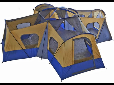 TENT Fortunershop Family Cabin Tent 14 Person Base Camp 4 Rooms Hiking Camping Shelter Outdoor