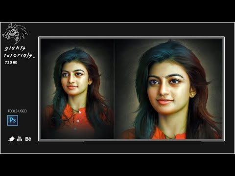 Digital Paintings Arts Effect In Photoshop CC Tutorials