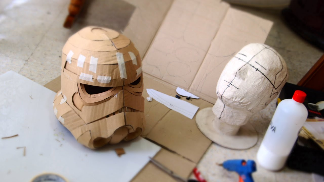 Make Stormtrooper Helmet Part 1 - Cardboard (free download) Cosplay ...