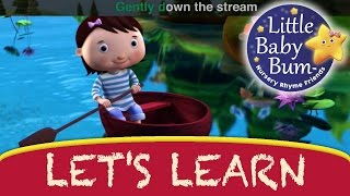 Row Row Row Your Boat | Learn with Little Baby Bum | Nursery Rhymes for Babies | Songs for Kids