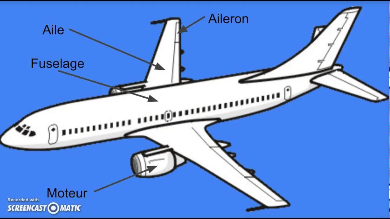 Le vol de l 39 avion les parties youtube for L interieur d un avion