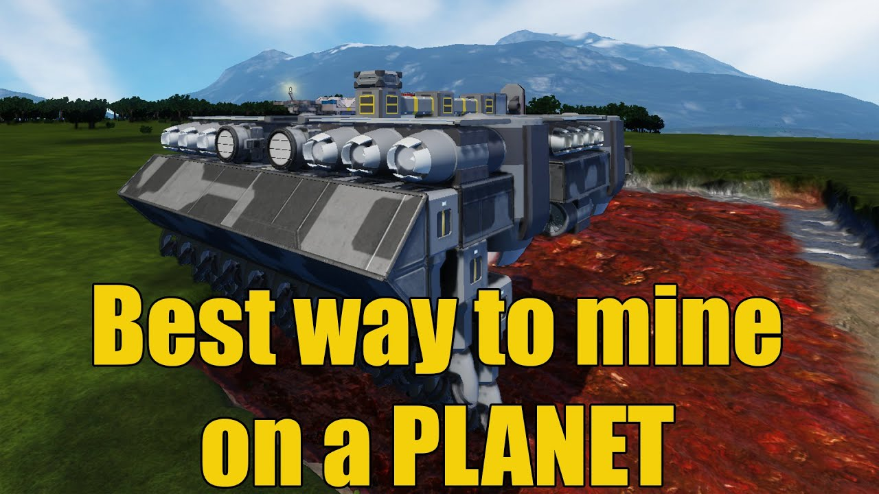 Space Engineers Best Way To Mine On Planets Youtube