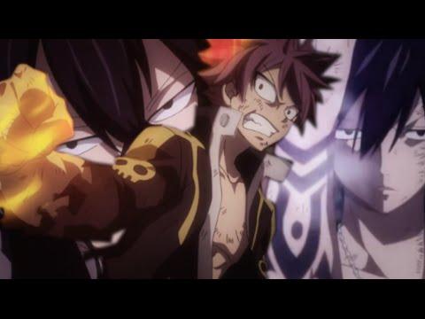 Natsu, Gray, Sting & Rogue vs Mard Geer - AMV Never Back Down