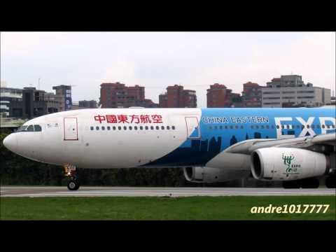 中國東方航空CHINA EASTERN A330-300 B-6100 Shanghai EXPO 2010 Take off (TSA-SHA) RWY10