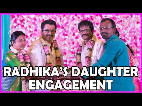 Radhika's Daughter Engagement Photos - Exclusive - Sarathkumar - RoseTeluguMovies