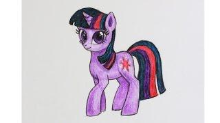 Уроки рисования. Как нарисовать пони принцессу ИСКОРКУ how to draw pony princess | Art School