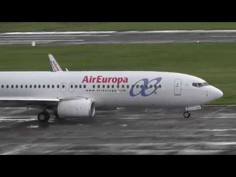 Air Europa Boeing 737-800 Wet Takeoff at Cork Airport