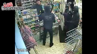 ARMED ROBBERY FAIL | Shop owner fights back! Chases machete robbers! | I Am Birmingham