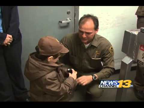 UPS boy reunites with his beloved delivery driver