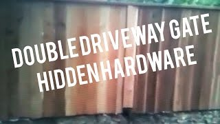 Driveway Gate, Wooden Double, Wheels, Easy How To Build Instructions From Journeyman Carpenter