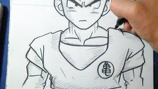Como desenhar o kuririn - Dragon Ball Z
