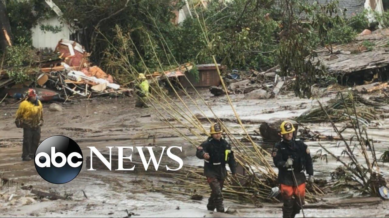 At least 13 killed, 20 injured in California mudslides