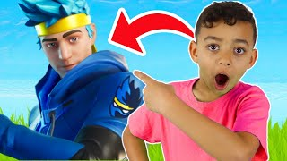 Trying to Win Solo with Ninja Skin Fortnite Battle Royale