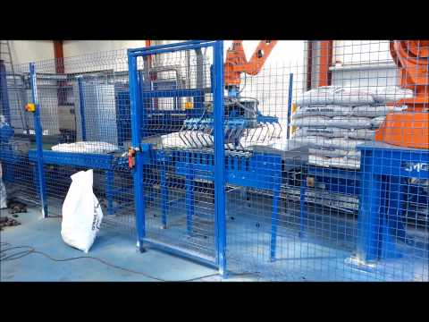 Robot Palletising System - ABB Robot Palletising Coal | RMGroup Packaging Systems & Equipment