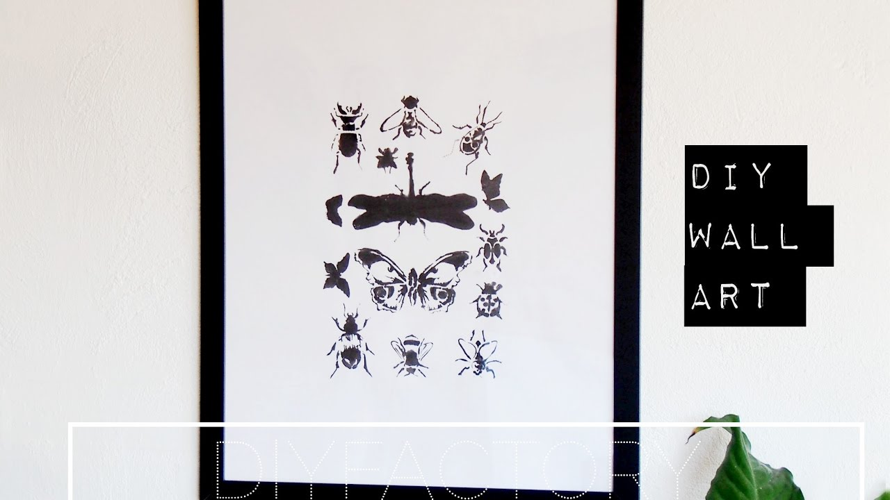 diy poster from stencil easy simple room decor