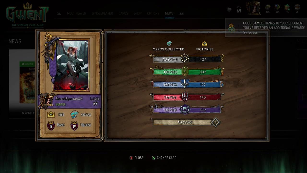 Znalezione obrazy dla zapytania gwent player profile