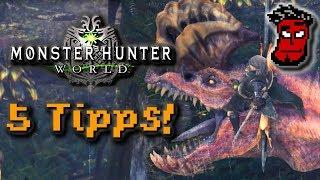 Monster Hunter World: 5 Tipps zum Einstieg! Guide / Tutorial | Gameplay [German Deutsch]