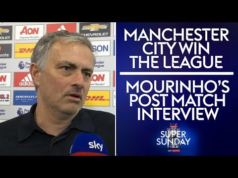Jose's post match interview after Man City win the Premier League! | Man Utd 0-1 West Brom