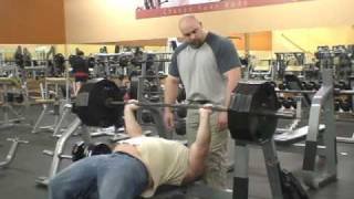 Raw Bench Press 405 X 12 reps