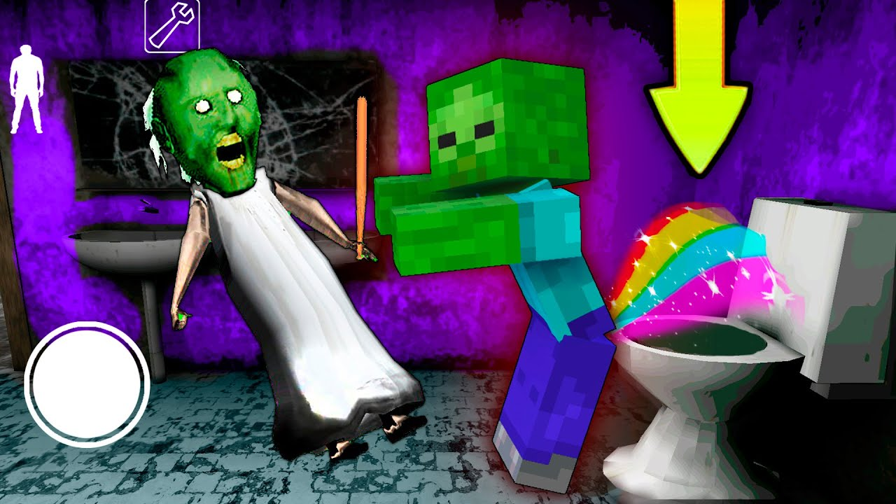 Granny vs 1000 zombies minecraft attack granny's house