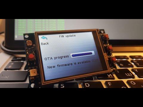 ESP32 OTA firmware update using compressed firmware image
