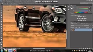 колесо на скорости фотошоп cs6 720p