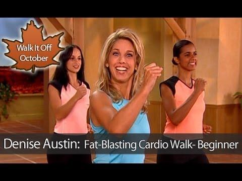 Denise Austin: Fat-Blasting Cardio Walking Workout- Beginner