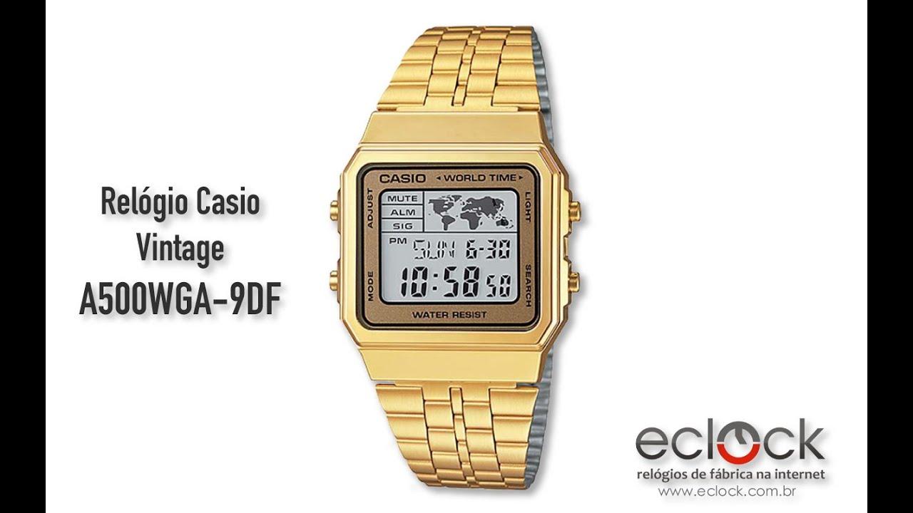 905377f5b50 Relógio Casio Vintage A500WGA-9DF - Eclock. Eclock Relógios