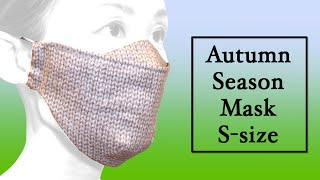 Darted 3D Face mask with Nose Plate Sewing Tutorial Size S DIY Autumn Season Mask