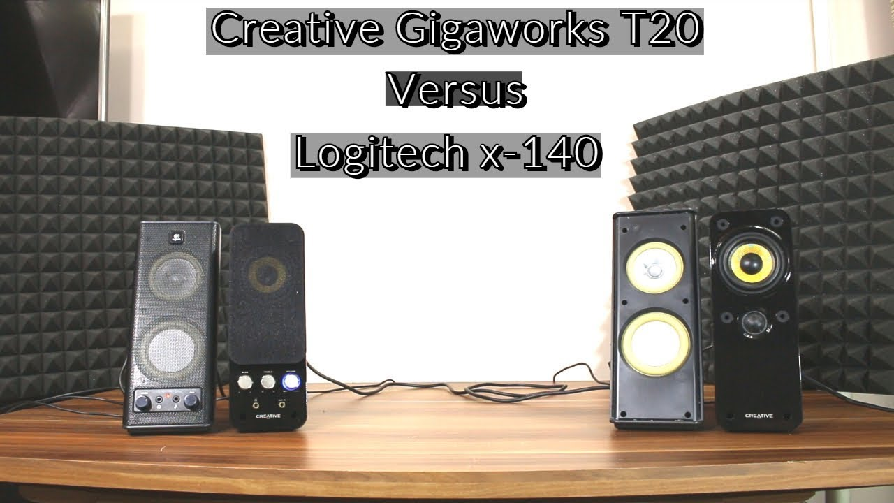 ec74e6c69dc Creative Gigaworks T20 vs Logitech x-140 speakers sound bass test ...