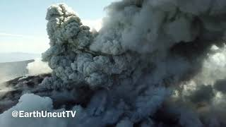 Aerial Footage Of Explosive Eruptions And Ash Venting At Shinmoedake In Japan 6th March 2018 thumbnail