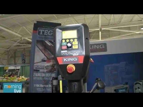 18 Nova Voyager Dvr Drill Press At The Hamilton Woodshow On Chch Tv