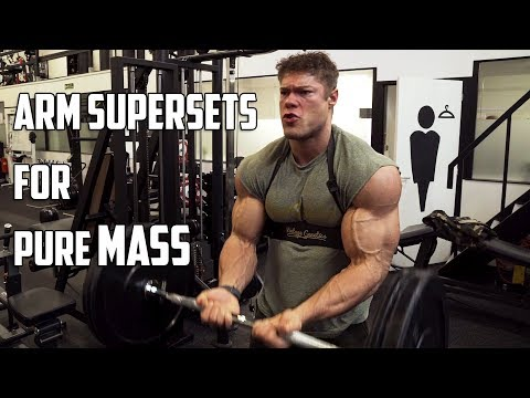 ARM SUPERSET Workout – Pumped up for the Arnold