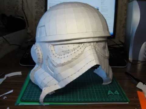 Papercraft Stormtrooper Helmet Construction (Part 1: Papercraft)