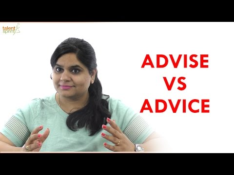 ADVISE vs ADVICE | English Communication Tips | TalentSprint