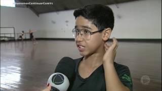 Garoto de 12 anos é a promessa da patinação artística brasileira