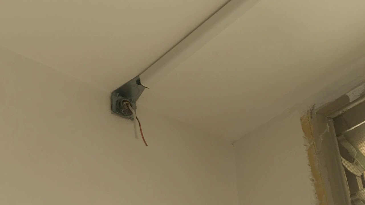 Wiremold : Ceiling Fan ~ Concrete Ceiling - YouTube