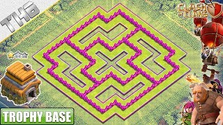 NEW TH6 Base 2019 with REPLAY!! COC TH6 Trophy/War Base Layout - Clash of Clans