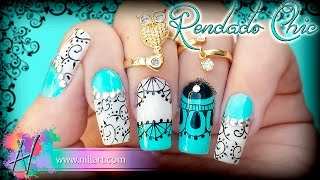 Nail Art Rendados Chic - Nill Art