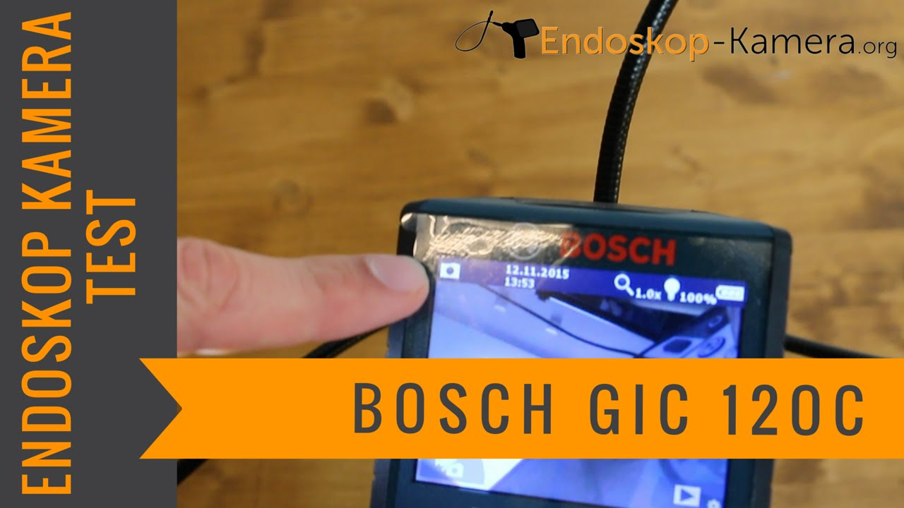 bosch gic 120 c inspektionskamera test youtube. Black Bedroom Furniture Sets. Home Design Ideas