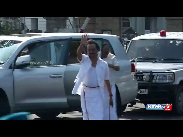 Stalin evicted from TN assembly with torn shirt | News7 Tamil