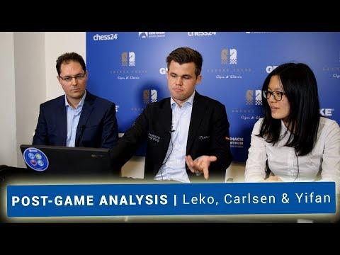 Magnus Carlsen, Hou Yifan & Peter Leko | Superb Chess Analysis after Round 2
