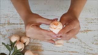 Маленькие розы из гофрированной бумаги DIY Mellas // Small paper roses