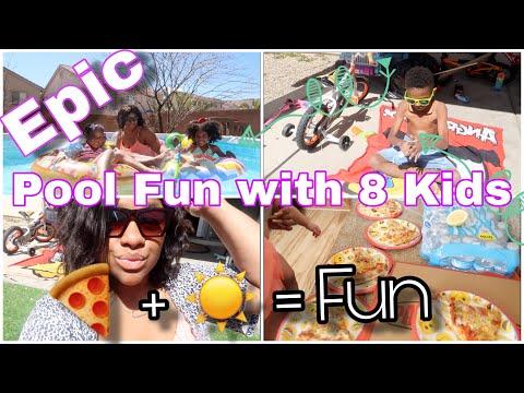 EPIC WEEKEND POOL FUN WITH 8 KIDS!!