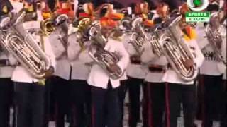 Common wealth games 2010 closing ceremony New Delhi-Indian Army, Air Force and Navy bands march