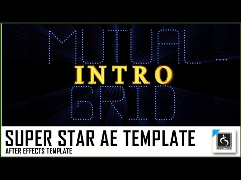 Super Star Intro Classic Version After Effects Template   Super Star, Kabali   MutualGrid