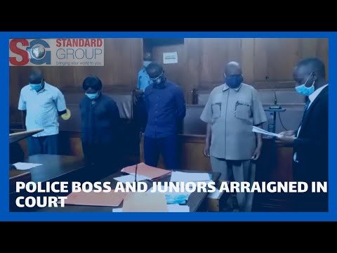OCS and his junior officers arraigned in a Kisumu court for allegedly stealing alcohol.